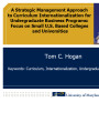 Strategic management Approach to curriculum internationalization for undergraduate business...