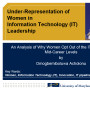Under-representation of women in Information Technology (IT) leadership: An analysis of why women...