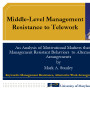 Middle-level managemen resistance to telework
