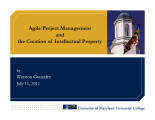 Agile project management and the creation of intellectual property