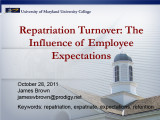 Repatriation turnover: The influence of employee expectations