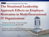 Situational leadership approach effects on employee motivation in multi-generational IT...