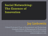 Social networking: The essence of innovation