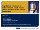 Organizational commitment in higher education: A study of career patterns of midlevel student...